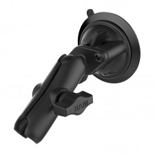 """1"""" Ball Standard Length Double Socket Arm with 3.3"""" Diameter Suction Cup"""