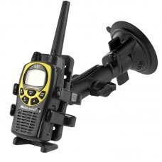 Twist Lock Suction Cup Mount with Universal Finger-Grip™ Phone or Radio Holder