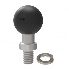 """1"""" Ball with 3/8""""-16 Threaded Post with Spanner Flats"""