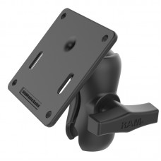 RAM® Double Socket Arm with 75x75mm VESA Plate
