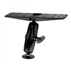 "Marine Mount with Double 1.5"" Socket Arm and Round Base"