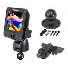 """2.5"""" Round Base with 1.5"""" Ball with Mounting Hardware for Raymarine® Dragonfly™"""