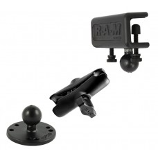 Window or Flat Surface Clamp Mount, Arm and Round Base Adapter