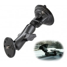 """Twist Lock Suction Mount With Round Camera Base (1"""" ball)"""