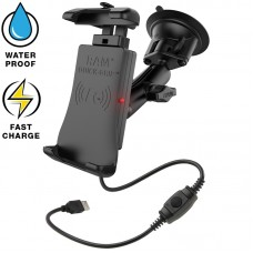 RAM® Quick-Grip™ Waterproof Wireless Charging Suction Cup Mount