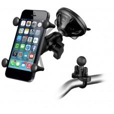 X-Grip® Universal Smart Phone Mount Bundle (Suction + Handlebar)