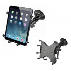 """Twist Lock Suction Cup Mount with X-Grip® III 10"""" Tablet Holder"""