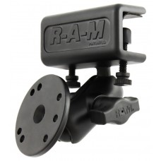 RAM® Glare Shield Clamp Double Ball Mount with Round Plate