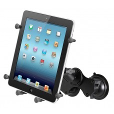 """Double Suction Cup Mount with X-Grip® III 10"""" Tablet Holder"""