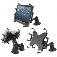 "Universal X-Grip® Holder for 10"" Tablets with a Dual Articulating Suction Cup Mount"