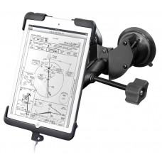 Double Suction Cup EFB Mount with Tab-Dock™ Holder for the iPad mini w/o Case