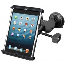 Double Suction Cup EFB Mount with Tab-Tite™ Universal Holder for iPad mini with Case