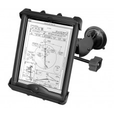 Double Suction Cup EFB Mount with Tab-Tite™ Universal Holder for Apple iPad with Heavy Duty Case