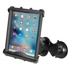 "Double Suction Cup Mount with Tab-Tite™ 10"" Tablet Holder for Heavy Duty Cases"