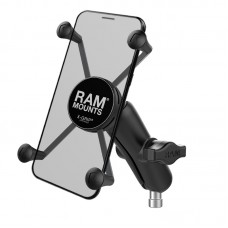 X-Grip® Large Phone Mount with Motorcycle Handlebar Clamp Base