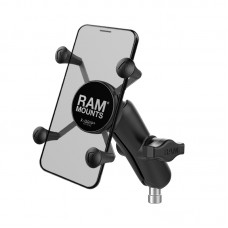 X-Grip® Phone Mount with Motorcycle Handlebar Clamp Base