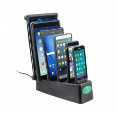 6 Gang Desktop Dock Charger with GDS Technology™ for IntelliSkin™