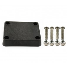 """2"""" x 2.5"""" Plastic Backer Plate with Hardware"""