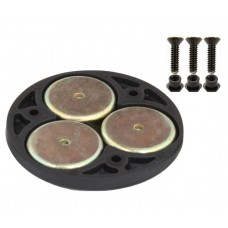 """RAM Triple Magnetic 2.5"""" Round Base Adapter"""