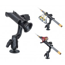 RAM Tube Jr. Fishing Rod Holder with RAM-ROD™ Revolution Ratchet/Socket System and Round Base