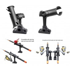"RAM Tube Jr. Fishing Rod Holder with 4"" Length Spline Post, Combination Bulkhead/Flat Surface Base & Plunger"