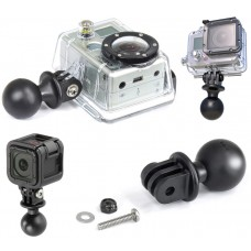 "1"" Diameter Ball with custom GoPro® Hero & Garmin Virb X & Virb XE Adapter"