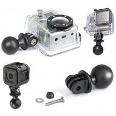 "1"" Diameter Ball with custom GoPro® Hero & Garmin Virb X & Virb XE Adapter"