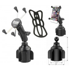 Stubby™ Cup Holder Mount with Universal X-Grip® Large Phone & Phablet Holder