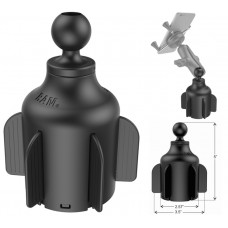 """Stubby™ Cup Holder Mount with 1"""" Ball"""