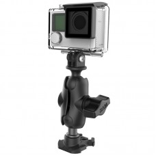 """1"""" Ball Adapter for GoPro® Bases with Short Arm and Action Camera Adapter"""