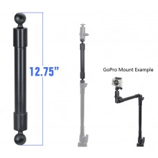 "12.75"" Long Extension Pole with 1"" Diameter Ball Ends"