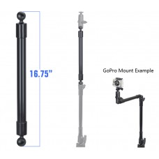 "16.75"" Long Extension Pole with 1"" Diameter Ball Ends"