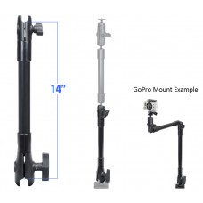"""14"""" Long Extension Pole with 1"""" and 1.5"""" Open Socket Ends"""